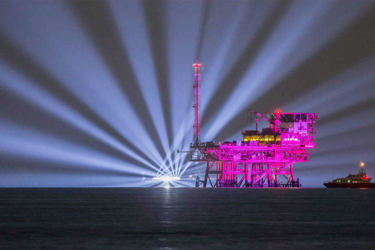 Allestimento luci per ENI Pink Light