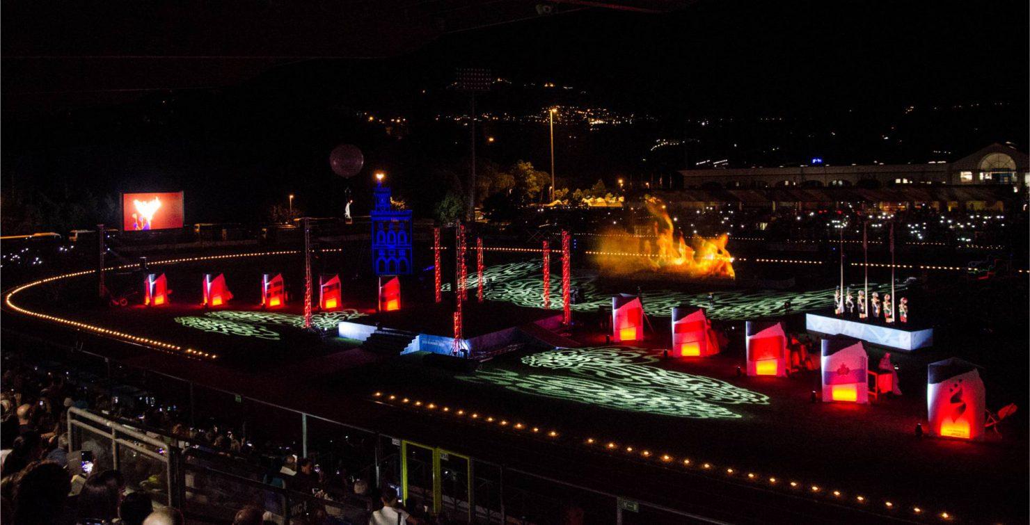Allestimento luci ai XVIII Giochi dei piccoli stati d'Europa