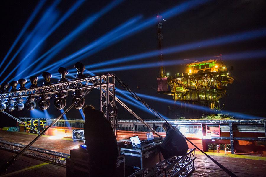 ENI Light Show per la Notte Rosa 2017