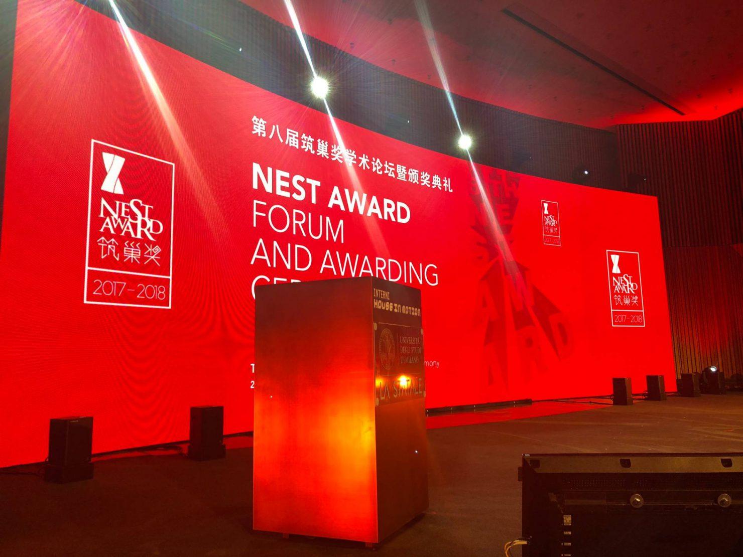 Scenografia palco NEST Award