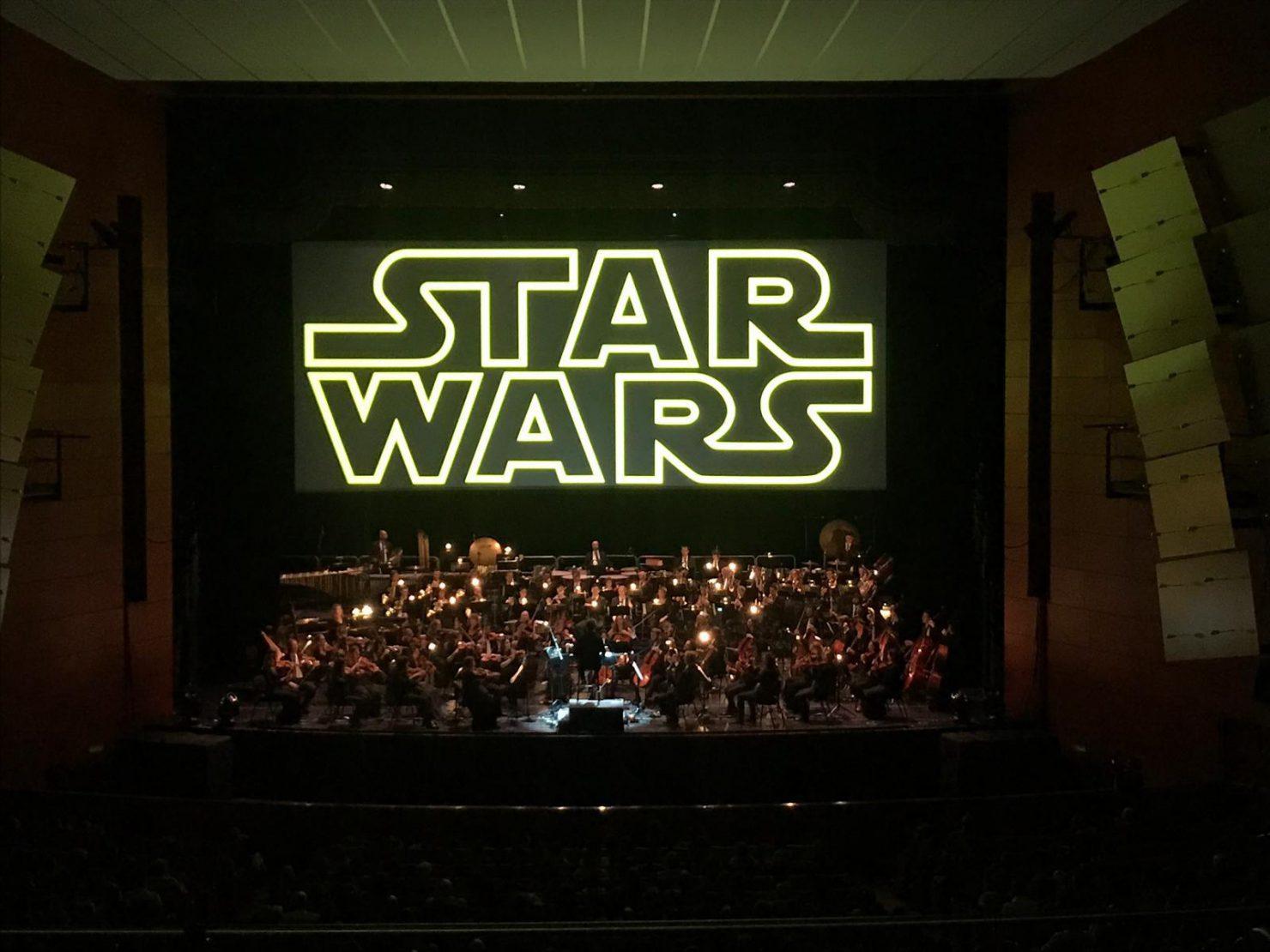 Allestimento audio, video e luci per la proiezione con concerto di Star Wars a Milano