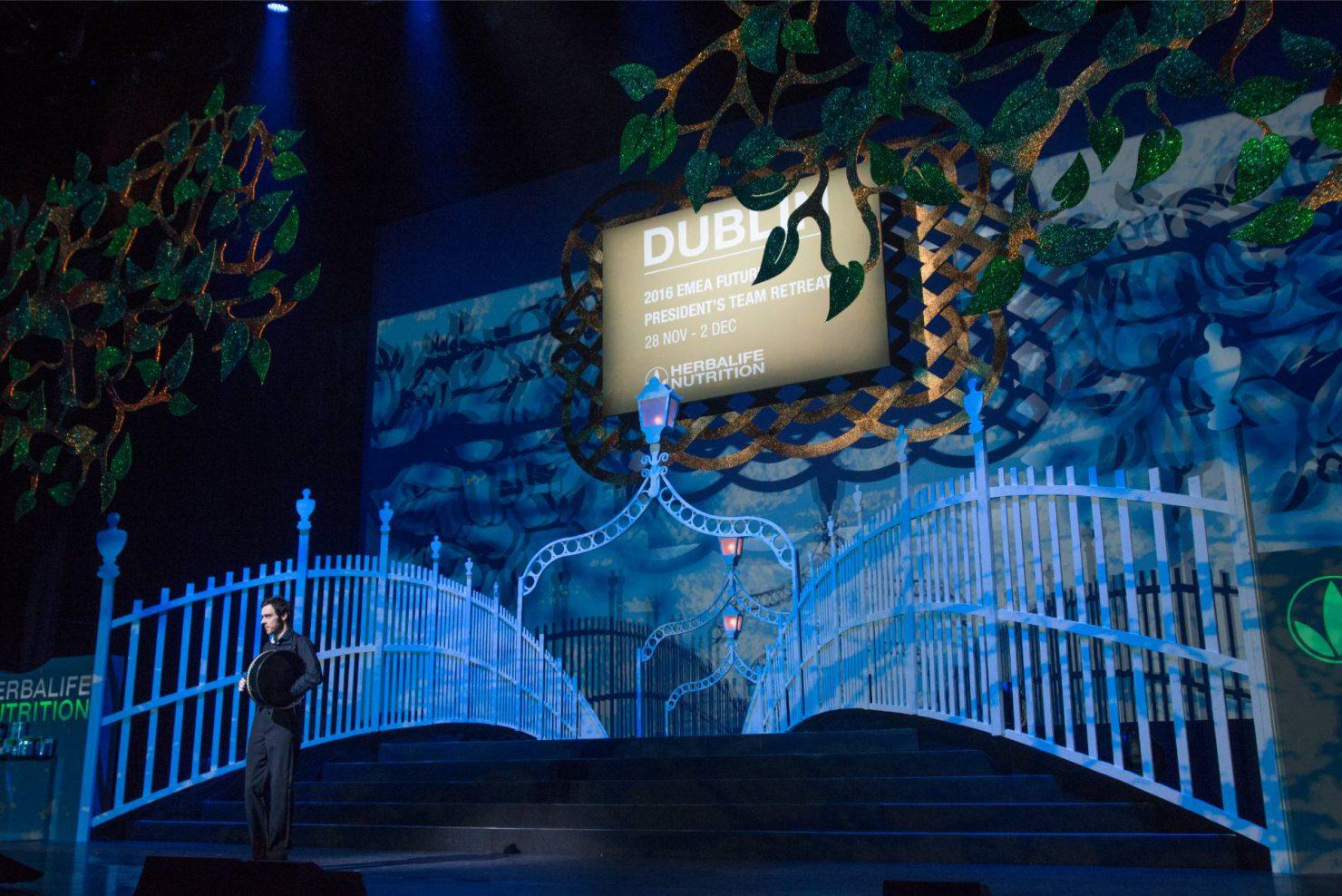 Scenografia palco per un evento aziendale