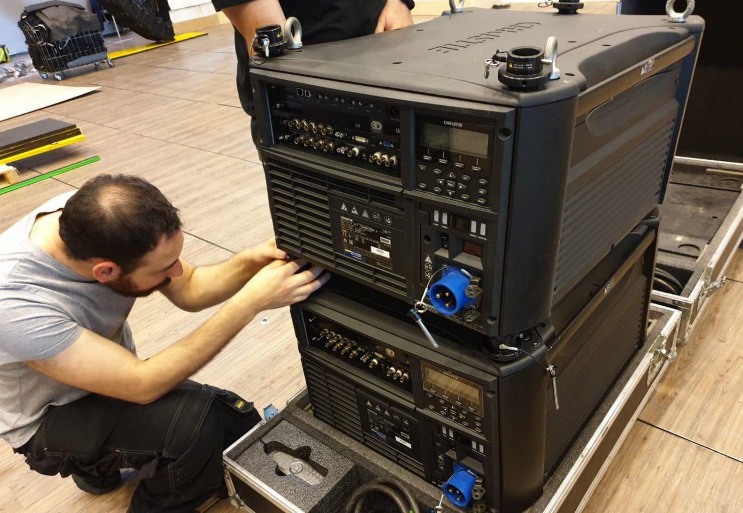 Setup videoproiettori Christie 20K serie J